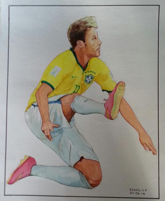 Neymar da Silva Santos Júnior par shajil.v.p